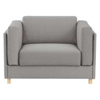 Colombo Grey fabric armchair sofa bed