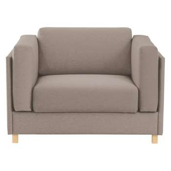 Colombo Natural fabric armchair sofa bed