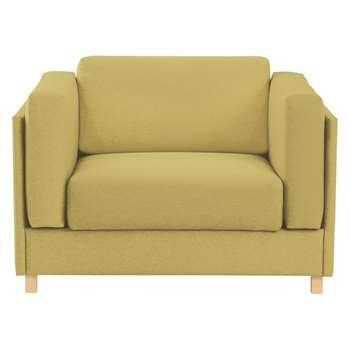 Colombo Saffron Yellow Fabric Armchair - 76 x 113cm