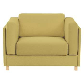 Colombo Saffron yellow fabric armchair sofa bed