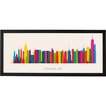 Colossal NYC, Framed Print (30 x 70cm)