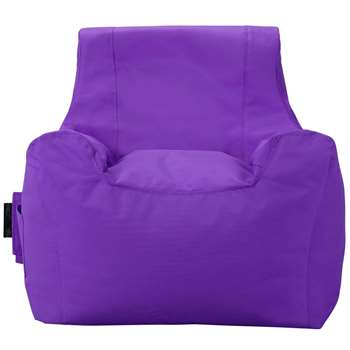 ColourMatch Large Teenager Beanbag - Purple (H70 x W65 x D65cm)
