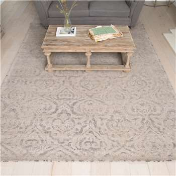 Colston Kelim Carpet to Match the Ottoman in Grey/Blue (240 x 300cm)