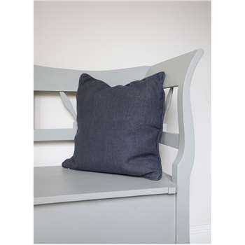 Compton Cushion in Charcoal - Linen (45 x 45cm)