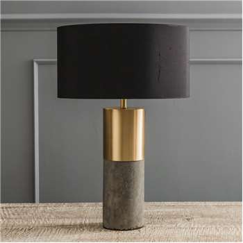 Concrete And Brass Lamp (39.5 x 11cm)