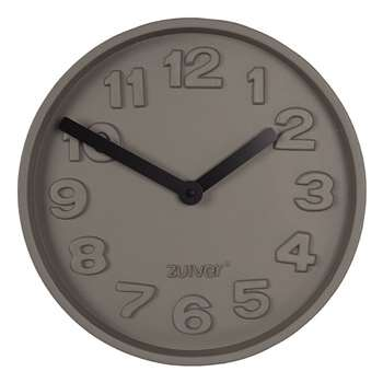 Zuiver Concrete Time Clock with Black Hands (H31.6 x W31.6 x D5cm)