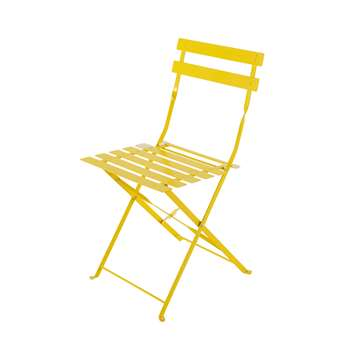 CONFETTI 2 metal folding garden chairs in yellow (80 x 41cm)