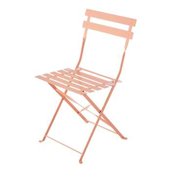 CONFETTI 2 Pink Metal Folding Garden Chairs (80 x 42cm)