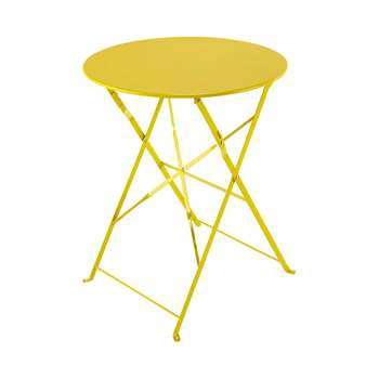 CONFETTI Metal folding garden table in yellow (71 x 60cm)