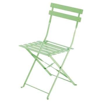 CONFETTIS 2 Aqua Metal Folding Garden Chairs (80 x 42cm)