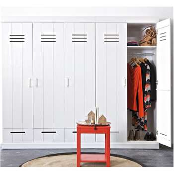 Connect Contemporary 3 Door Locker Cabinet with Storage 195 x 140cm