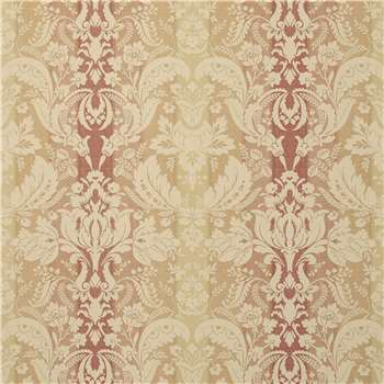 Connemara Cinnamon Brown Damask Wallpaper