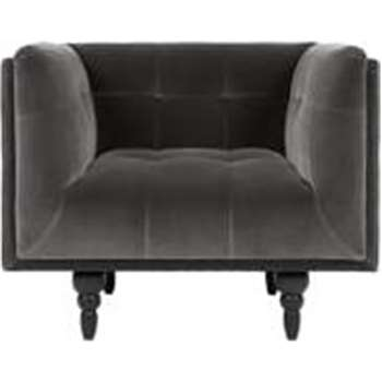Connor Armchair, Concrete Cotton Velvet (88 x 96cm)