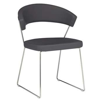 Connubia by Calligaris New York Dining Chair, Grey (H75 x W57 x D52cm)