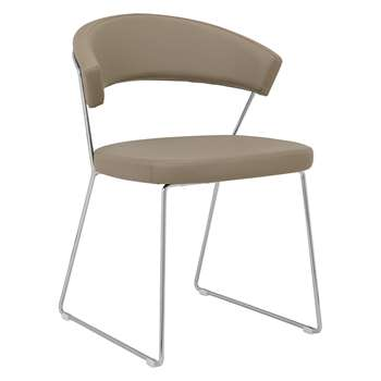 Connubia by Calligaris New York Dining Chair, Taupe (H75 x W57 x D52cm)