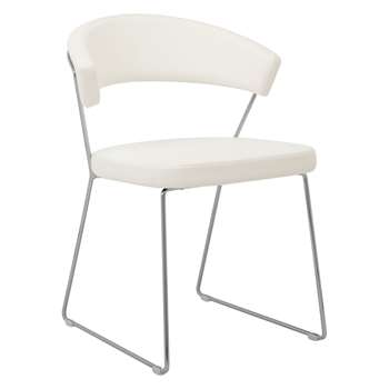 Connubia by Calligaris New York Dining Chair, White (H75 x W57 x D52cm)