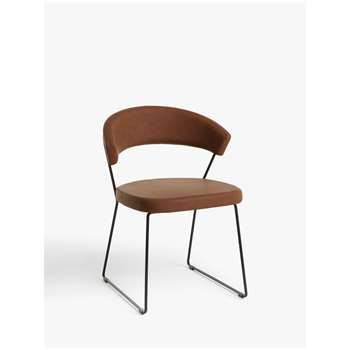 Connubia by Calligaris New York Faux Leather Dining Chair, Brown (H75 x W57 x D52cm)