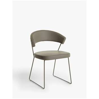 Connubia by Calligaris New York Leather Dining Chair, Taupe (H75 x W57 x D52cm)