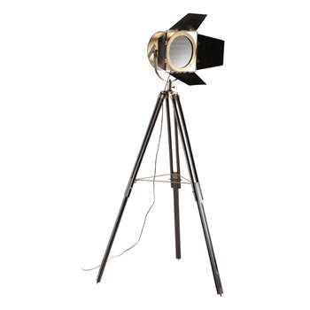 CONQUÉRANT copper finish metal tripod floor lamp (174 x 84cm)