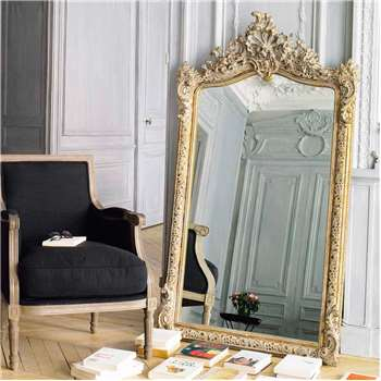 CONSERVATOIRE golden resin mirror H 153cm