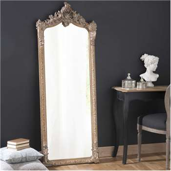 CONSERVATOIRE wood and golden resin cheval mirror (167.5 x 64cm)