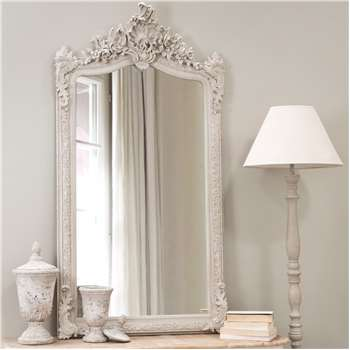CONSERVATORY resin mirror, grey H 153cm