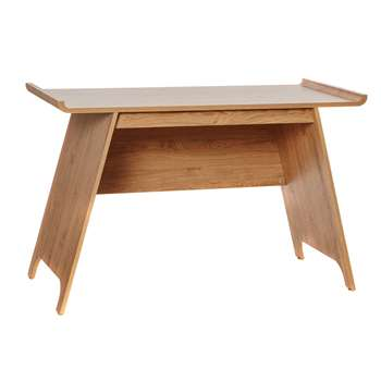 Contemporary Trestle Desk, Oak Effect (76.9 x 120cm)