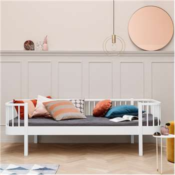 Contemporary Wood Kids Day Bed in White (69 x 207cm)