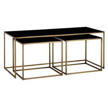 Content by Terence Conran Coffee Black Enamel Table and 2 Side Tables
