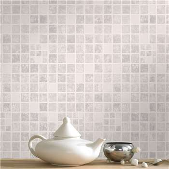 Contour - Earthen Mid Grey Wallpaper (H1000 x W52cm)