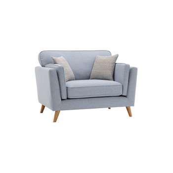 Cooper Blue Fabric Loveseat (H91 x W123 x D94cm)