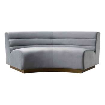 Cooper Sectional Sofa - Dove Grey (H77 x W204 x D90cm)