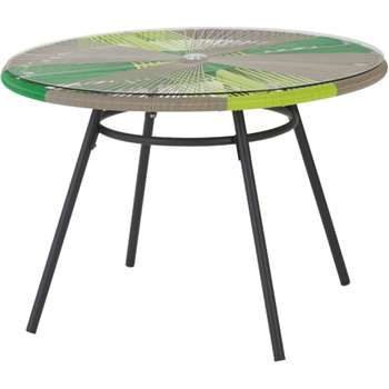 Copa outdoor dining table, citrus green (76 x 110cm)