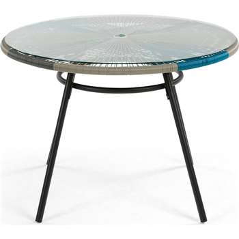 Copa Outdoor Dining Table, Cool Blue (76 x 110cm)