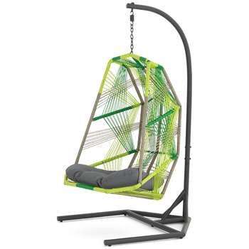 Copa Garden Hanging Chair, Citrus Green (H185 x W100 x D103cm)