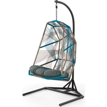 Copa Outdoor Hanging Chair, Cool Blue (184 x 100cm)