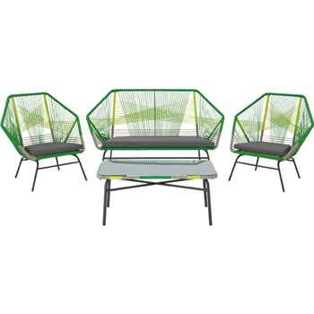 Copa outdoor lounge set, citrus green (90 x 157cm)