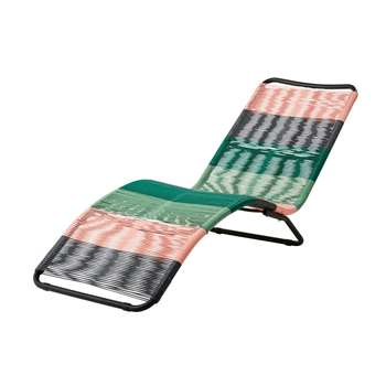 COPACABANA Multicoloured Resin Wicker Sun Lounger - Blue/Pink (70.5 x 60cm)