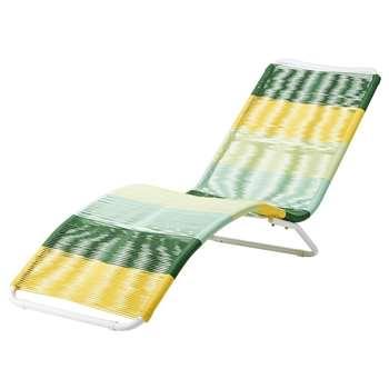 COPACABANA Multicoloured Resin Wicker Sun Lounger - Yellow/Green (70.5 x 60cm)