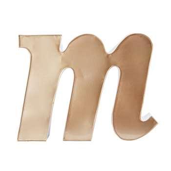 Copper Metal Letter M Figurine (H31 x W42cm)