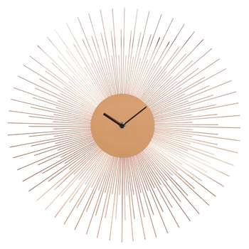 COPPER PADOVA copper clock (45 x 45cm)