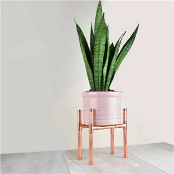 Copper Plant Stand Rectangle Base (H21 x W19 x D12cm)