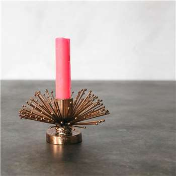 Copper Spike Candle Holder (H8 x W14 x D14cm)
