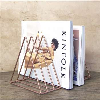 Copper Triangle Minimal Magazine Rack (21 x 30cm)