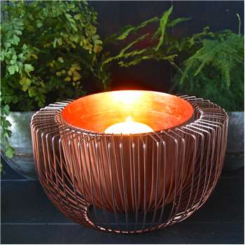 Copper Wire Bowl Candle Holder (H20 x W30 x D30cm)