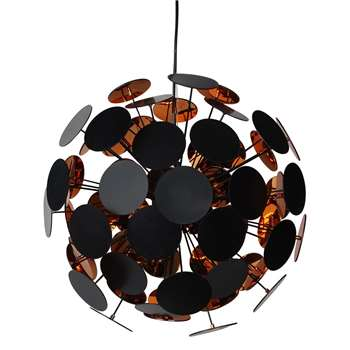 Copperhead 6 Light Ceiling Light Copper (H148 x W52 x D52cm)
