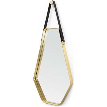 Cora Large Mirror, Black and Gold (100 x 45cm)