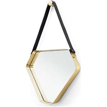 Cora Mirror, Black and Gold (61 x 44cm)