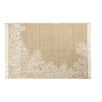 CORAIL Reversible Jute and Cotton Rug with Print (H140 x W200 x D2cm)