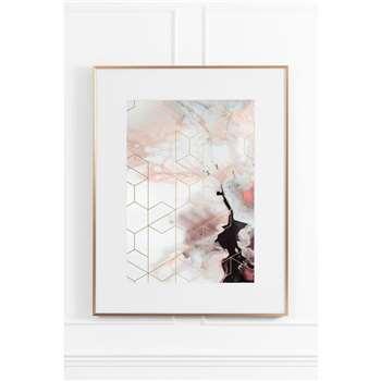 Coral Cosmos No.1 - Brass Frame (H90 x W70cm)